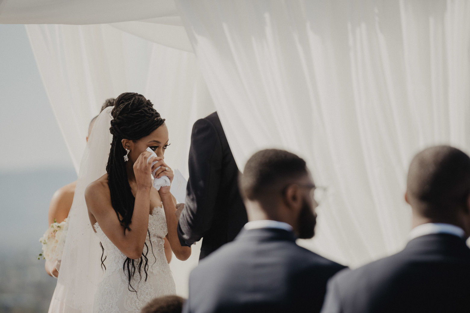 bride crying | Brocoff Photography